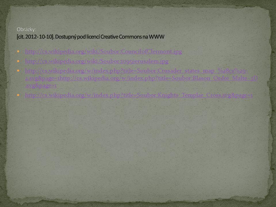 Obrázky: [cit. 2012- 10-10]. Dostupný pod licencí Creative Commons na WWW
